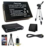 Canon EOS M 18 MP CMOS Mirrorless Digital SLR Camera LP-E12 Lithium Ion Replacement Battery + Full Size Tripod + SDHC Card USB Reader + Memory Card Wallet + Deluxe Starter Kit + Mini HDMI Cable Bundle DavisMAX EOS M Accessory Kit