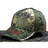 Noga Python Camouflage Hat Simplicity Outdoor Sun Hat Army Hat Woodland Camo Outdoor Tactical Cap for Fishing Hiking Hunting