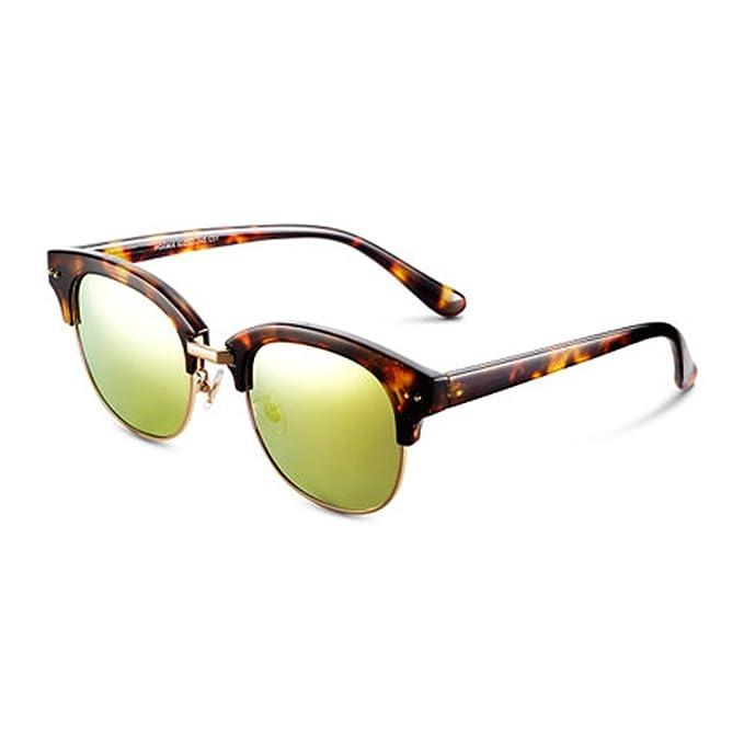 Gafas de sol de medio marco Polarizador personalizado Espejo ...