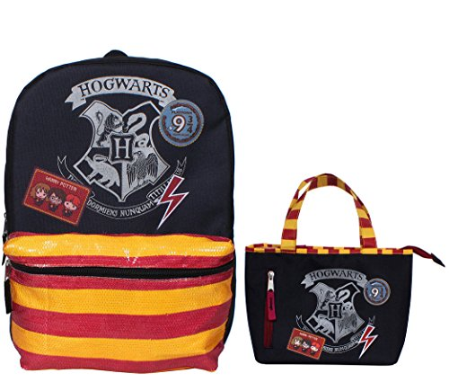 "Price comparison product image Harry Potter Hogwarts 16"" Backpack and Insulated Lunchbox Set"