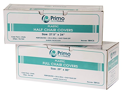 Primo Dental Products SBHCS Half Chair Sleeves, 27'' x 24'' (Pack of 225) by Primo Dental Products