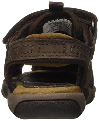Timberland Jungen Oak Bluffs Leather Fisherman Sandale Braun (Dark Brown)