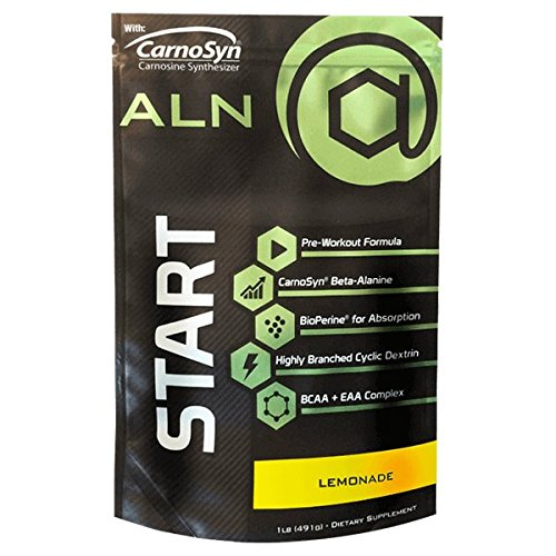 At Large Nutrition: START Pre-workout, Lemonade flavor, Highly Branched Cyclic Dextrin, BCAA + EAA Complex, Great-Tasting Natural Flavoring, Muscle-Building Aminos, Increases Energy and Endurance