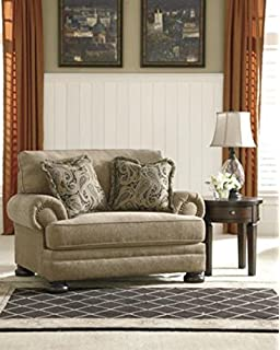 ashley furniture signature design keereel chair and a half plush upholstery traditional