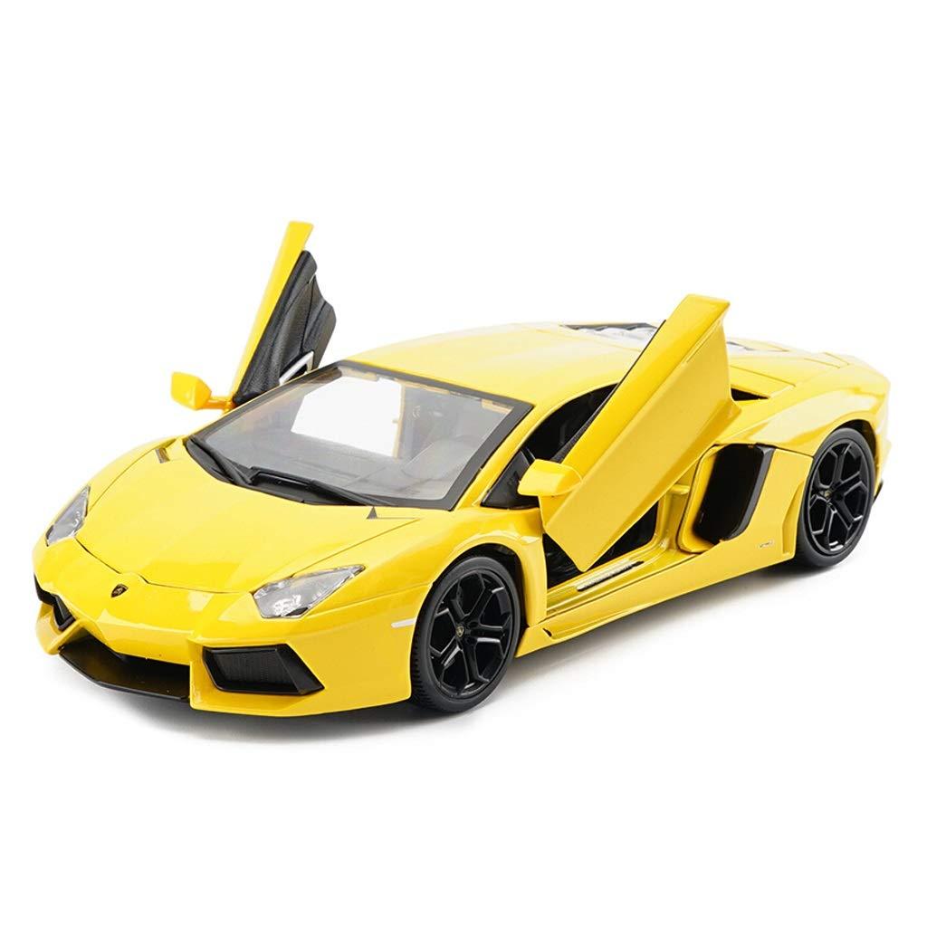 Xuping shop モデルカー/スタティックメタル玩具、スポーツカーシミュレーション合金ダイカストカーモデル大人のおもちゃコレクション飾り1:18スケール (色 : 緑) B07RGYGN1L 黄  黄