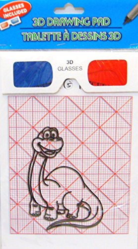 3D Drawing and Doodling Pads with 3D Glasses (2 Pack) (3d Drawing Pad compare prices)