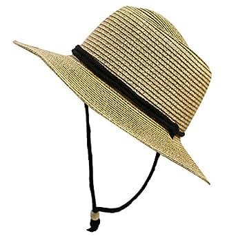 Unisex Cc St111 Upf50+ Protect Wide Brim Straw Sun Hat 2 Colors (Pms560 Natural)