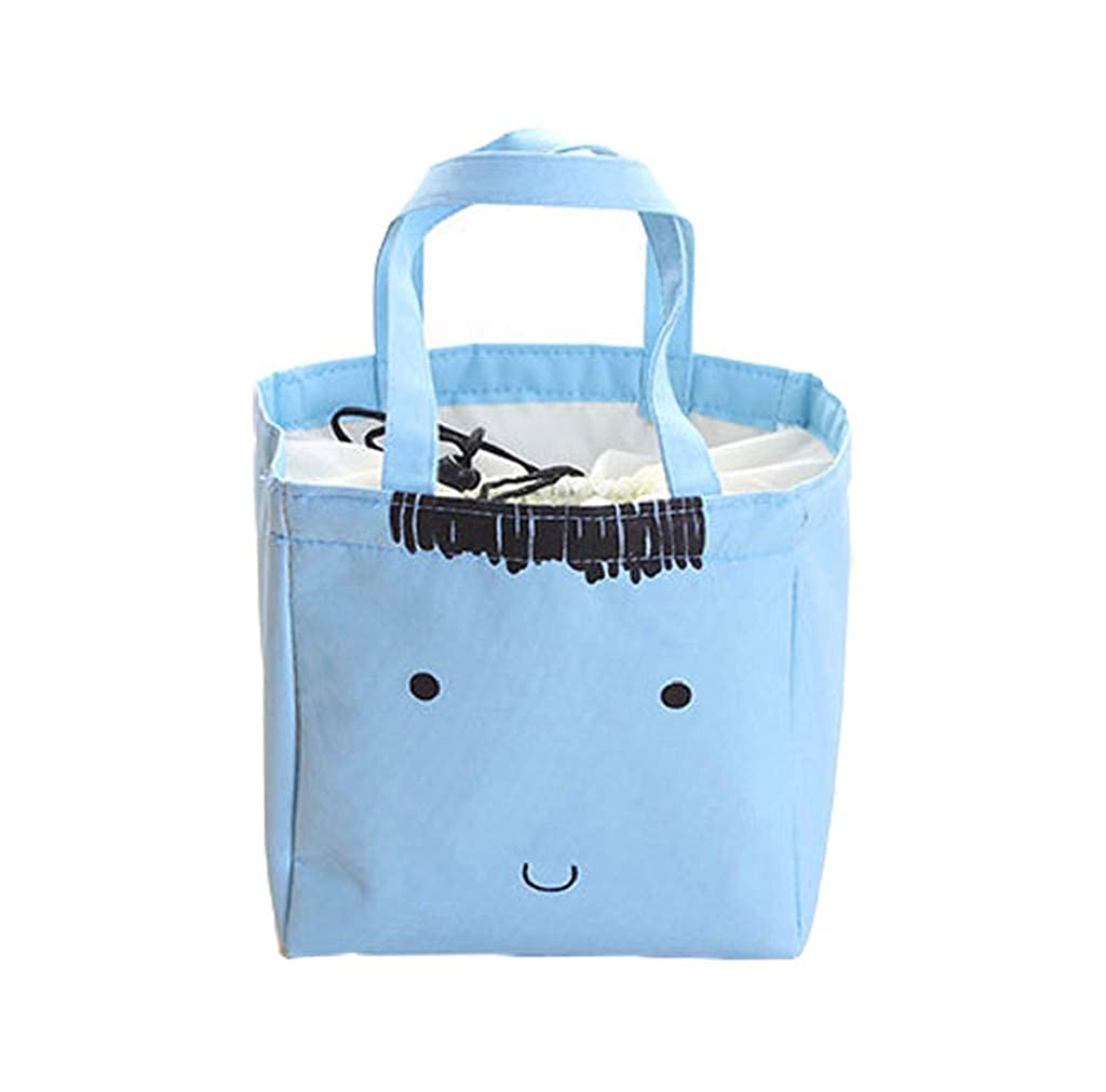 acction Cute Simple Cartoon Lunch Box Thermal Insulated Tote Cooler Bag Bento Children Lunch Container