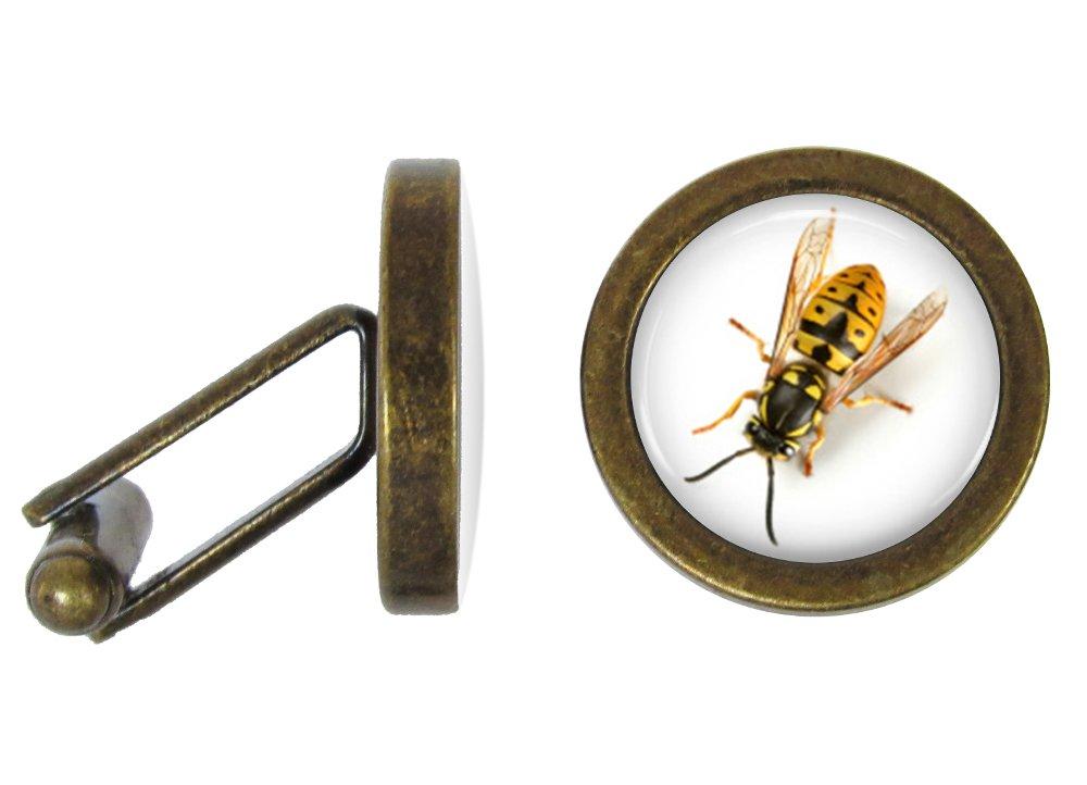 Oakmont Cufflinks Yellowjacket Cufflinks Wasp Cuff Links (Angled Edition)