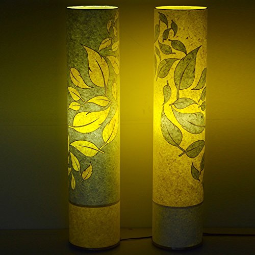 craftter-set-of-02-flying-leaves-yellow-and-white-cylinderical-artistic-floor-lamps-handmade-floor-l