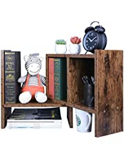 OROPY Regulowana półka na książki na biurko, organizer na biurko w stylu retro, wielofunkcyjny blat do przechowywania półka ekspozycyjna do salonu, biura domowego, sypialni