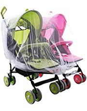 Mosquito Net for Stroller Carriers Car for Stroller Carriers Car Seats Cradles, Universal Size, High-Density Stroller Mosquito Net Twin Baby Stroller Mosquito Net Crib Cradle Breathable Mosquito Net