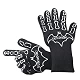 YUNDOOG Heat Resistant Gloves, Premium gloves for BBQ, Baking, Kitchen Cooking, Industry, Certified to 932? Heat Resistant, fire prevention, skid, washable oven omit
