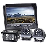 Rear View Safety Backup Camera System with Side Cameras for RVs, Trucks, Buses and Commercial Vehicles | RVS-770616N