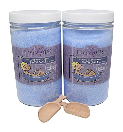 Aromatherapy Epsom Salt Bath Salts 2 Pack with Wooden Scoop (Lavender) (Bath Salts Pregnancy)