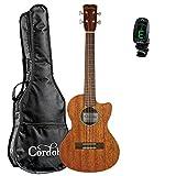Cordoba 20TM-CE Tenor Acoustic-Electric Ukulele with Cordoba Gig Bag and Clip-On Tuner
