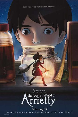 Secret World Of Arrietty Movie Poster Double Sided Original 27x40