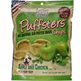 Loving Pets Puffsters Apple and Chicken Chips for Dogs, 4 oz