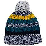 JIBIL Children Winter Striped Hat, Christmas Thick Stretchy Knit Motley Hat with Lining