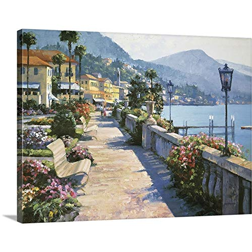Howard Behrens Premium Thick-Wrap Canvas Wall Art Print Entitled Bellagio Promenade 24