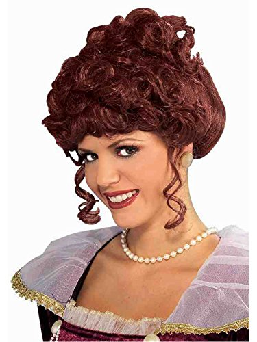 Victorian Wig Lady Adult - Victorian Lady Wig Adult, One Size, Brown