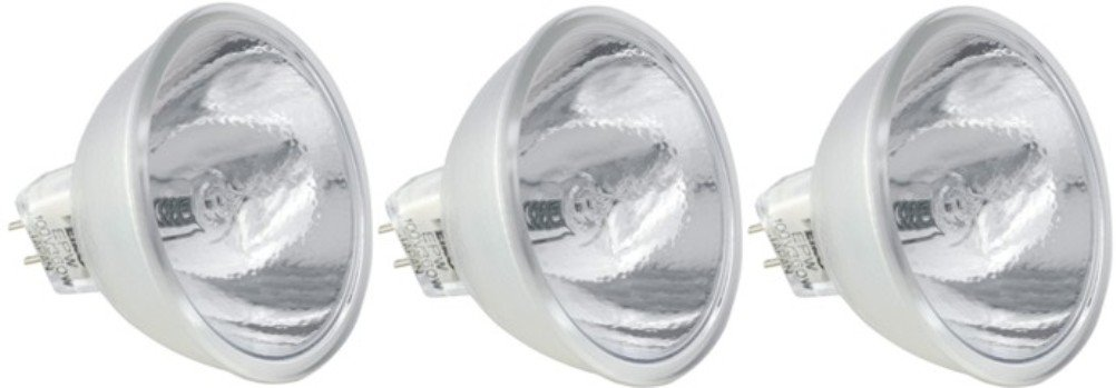 EiKO ENX Model ENX ANSI Code Lamp (3-Pack), 82 Voltage Rating, 360 Watts, 4.39 Amps, GY5.3 Base, MR16 Bulb, CC-8 Filament, 1.75''/44.5mm MOL, 2.00''/50.8mm MOD, CT deg K 3300, 75 Rated Life