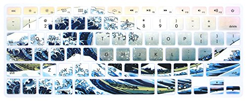Wave Silicone (HRH Sea Waves Keyboard Cover Silicone Skin for MacBook Air 13,for MacBook Pro 13