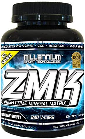 Millennium Sport Technologies, ZMK, 240 Vegetarian Capsules, Nighttime Mineral, Multi-Mineral, BSCG Certified