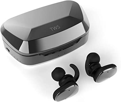 Apple works with truwire LG Bluetooth Headset In-Ear Running Earbuds IPX4 Waterproof with Mic Stereo Earphones Samsung,Google Pixel,LG CVC 6.0 Noise Cancellation
