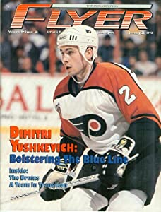 The Philadelphia Flyer: The Official Publication of the Philadelphia Flyers: Volume 9, Issue 26, January 21, 1993 (Dimitri Yushkevich Cover)