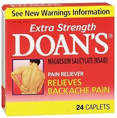Doan's Extra Strength Pain Reliever, Caplets 24 ea (Pack of 10)