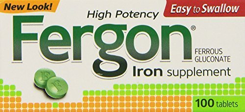 Fergon Iron Supplement, Tablets, 100 Count (Pack of 3) by Fergon