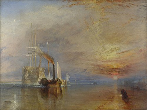 Oil Painting 'Joseph Mallord William Turner The Fighting Temeraire ' Printing On High Quality Polyster Canvas , 10 X 13 Inch / 25 X 34 Cm ,the Best Kids Room Decor And Home Decoration And Gifts Is This Amazing Art Decorative Canvas Prints ()