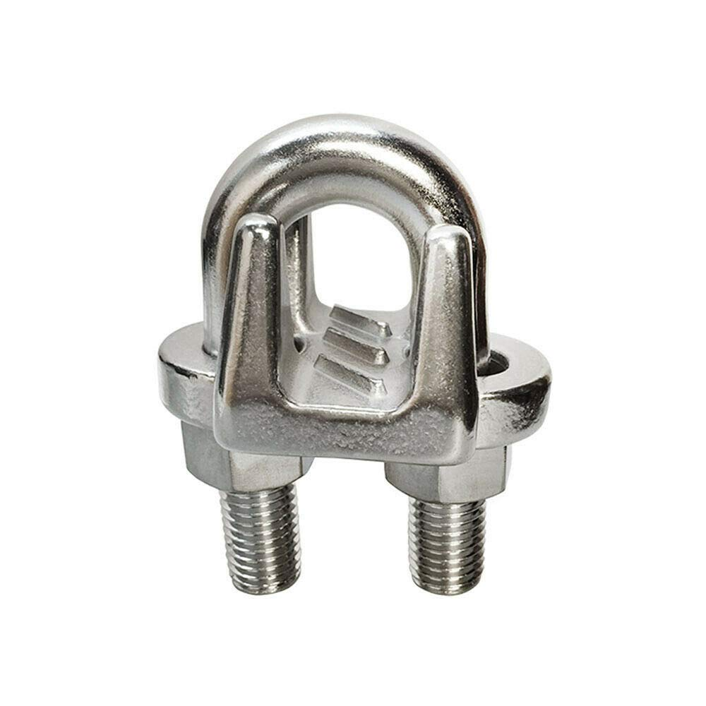 Marine 5/8'' Wire Clip Rope Clamp Stainless Steel Cable Rigging Boat New