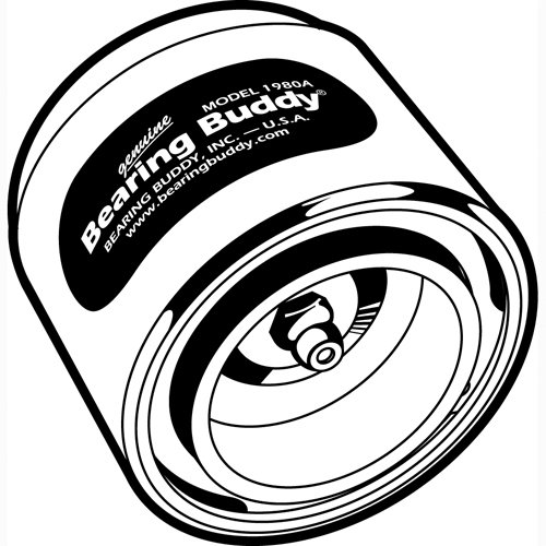 Bearing Buddy Chrome Bearing Protectors with Auto Check (pair) - 1.980' Diameter