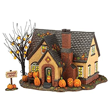 Department 56 Snow Village Halloween Lit, The Pumpkin House, 6.69-Inch