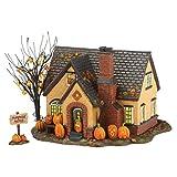 #9: Department 56 Snow Village Halloween Pumpkin House Lit Building, 6.69 inch (4030757)