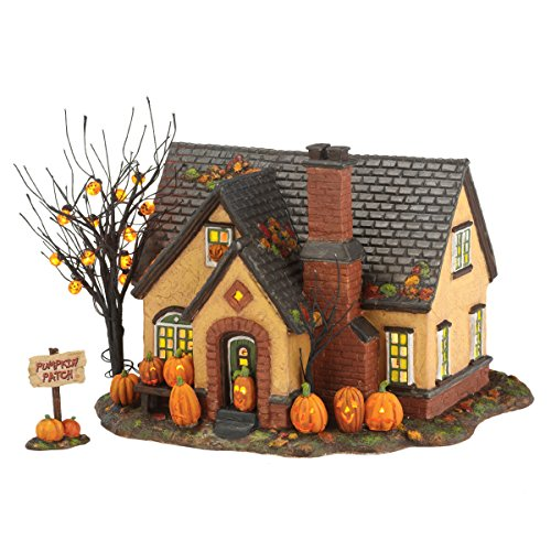 Department 56 Snow Village Halloween Pumpkin House Lit Building, 6.69 inch (4030757)]()
