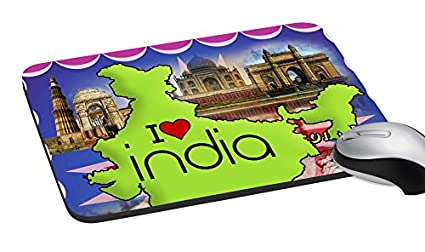 amazon com mesleep i love india digitally printed mouse pad