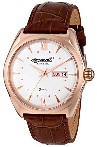 Ingersoll Men's INQ002SLRS Hanover Analog Display Japanese Quartz Brown Watch