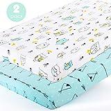 Stretchy-Pack-n-Play-Playard-Sheets-Brolex 2 Pack