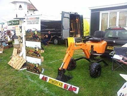 Powerfab PLANS for towable mini excavator digger backhoe 360 degree