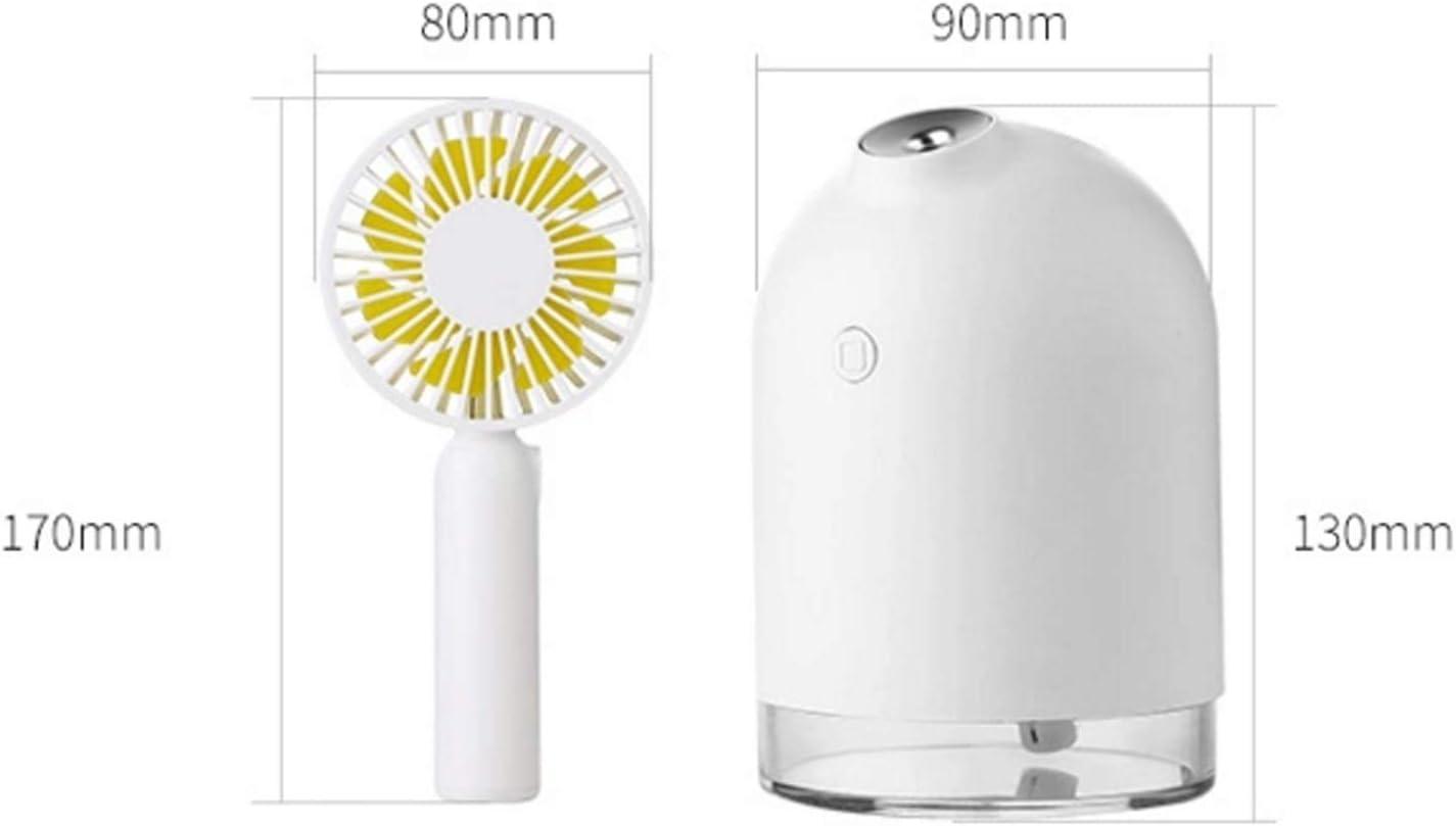Color : Pink XIAOF-FEN USB Charging Fan Portable Mini Fan Multi-Function Air Cooling 3 Gear Wind Electric Fan USB Fan