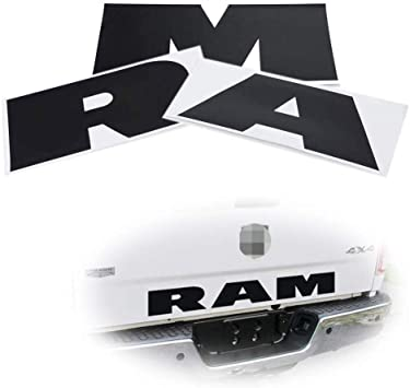 2015-2018 Black Tailgate Badge Rear Emblem 3D for Ram 1500 2500 3500 F