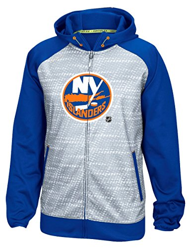 New York Islanders Reebok NHL 2016 Center Ice Speedwick Full Zip Sweatshirt
