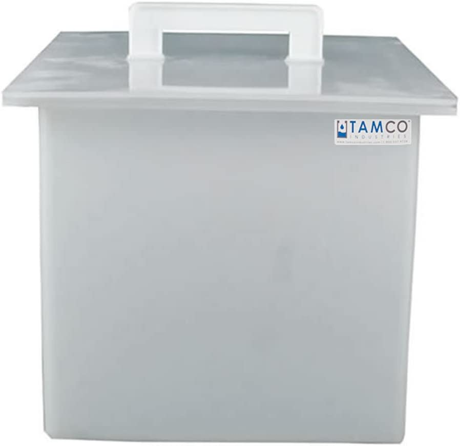 24inch L x 24inch W x 24inch Hgt. Tamco Industries 59 Gallon Polypropylene Tank