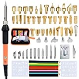 71PCS Burning Kit Wood Burner Tool Set Professional Embossing Pyrography Pen Blu