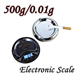 Digital Mini Scale, Transer Electronic Pocket Jewelry Scales Digital Weight Scales, 500g 0.01g/ 0.001oz, LCD Backlit Display, Tare Function, Stainless Steel Cover (Black)