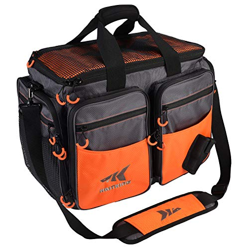 KastKing Fishing Tackle Bags,Large-Lunker (Without Trays, 19.7x13x10.6 - Large Tackle