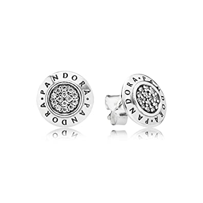 bcdf31a61 Amazon.com: Pandora Signature Stud Earrings With Clear Cubic Zirconia  290559CZ: Jewelry